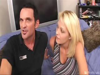 Porn Tube of What's More Fun Than Catching A Slimeball In The Act Of Being Dickless? Catching It On Film And Using It To Score With His Hot Wife! He Didn't Want Her To See The Evidence, So We Recorded Over It With This Sexy Flick. Better Luck Next Time, Sucker!