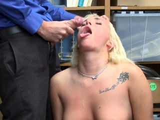 Chubby shoplifter facial