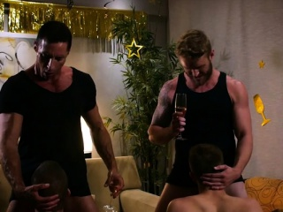 Big dick son foursome with cumshot